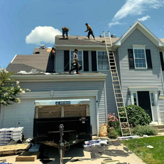 Roofing Contractor Superior Services of PA & MD repairing and restoring hail storm damage in carroll county manchester md